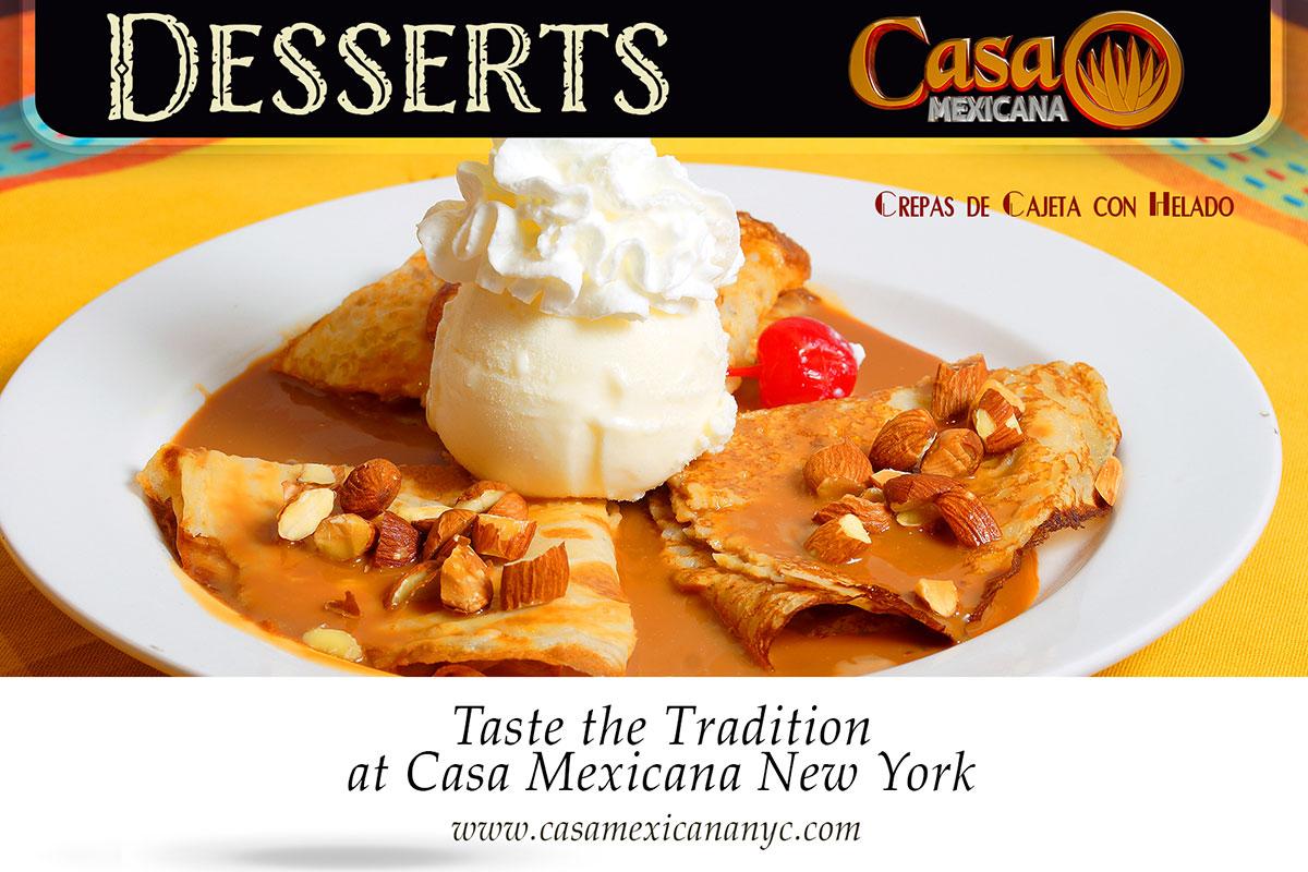 casa mexicana crepas con crema dessert