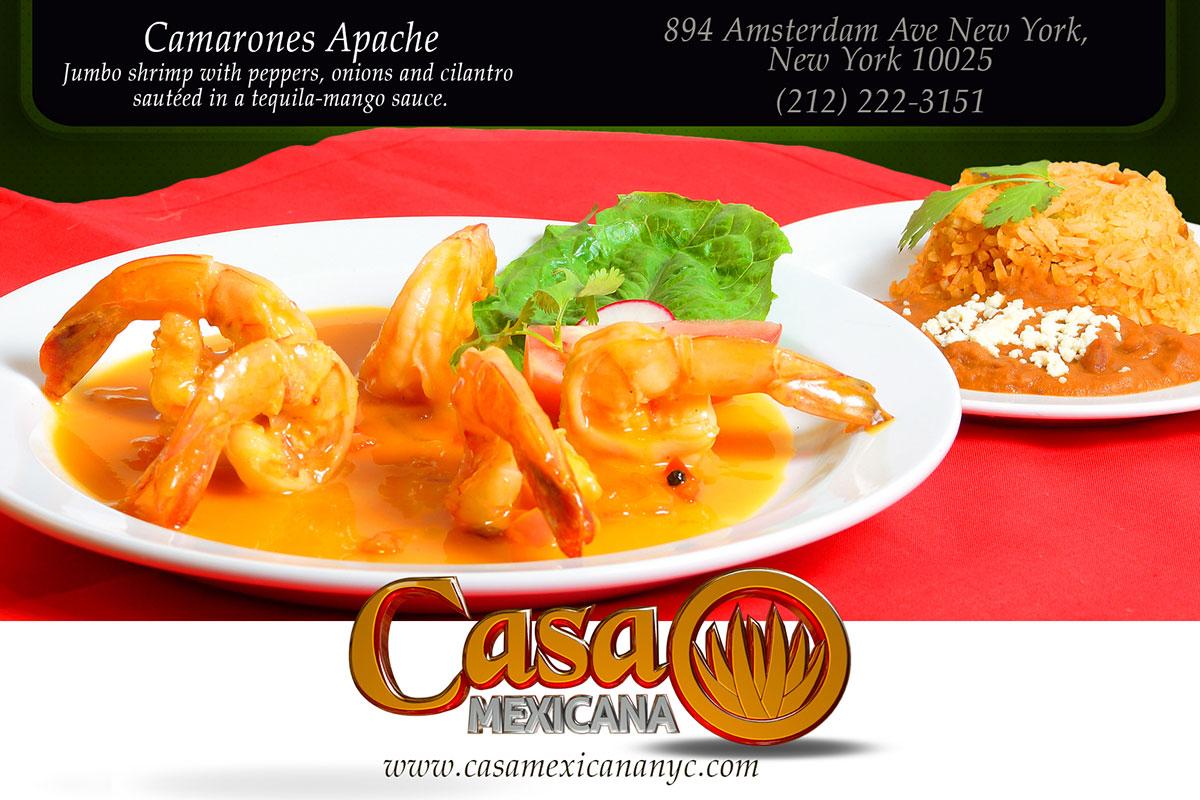 casa mexicana jumbo shrimp with mango sauce