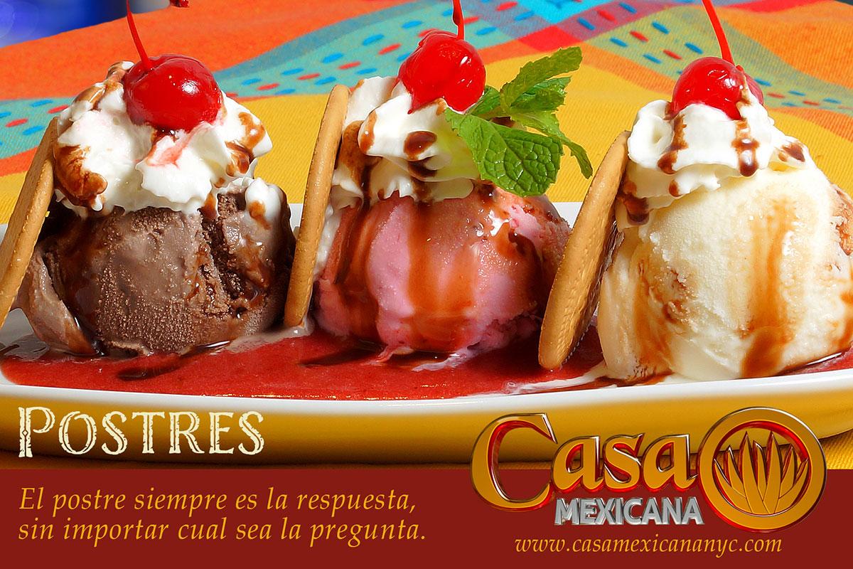 casa mexicana tres marias dessert